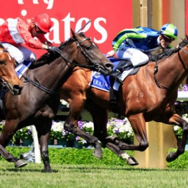 Winning the Gr1 Coolmore Stud Stakes